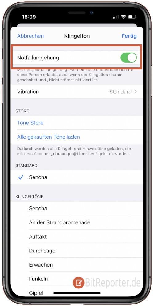 iPhone Notfallumgehung aktivieren und für bestimmte Kontakte immer erreichbar sein.