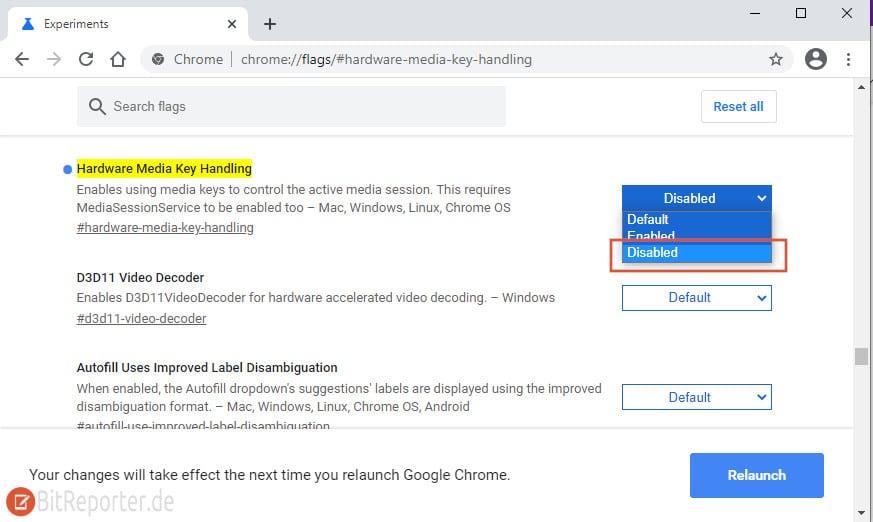 Risiges Lautstärke Popup bei Chrome und Edge deaktivieren