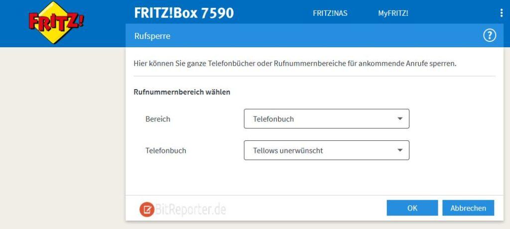 Anrufe in Tellows Sperrliste mit Fritzbox automatisch blockieren