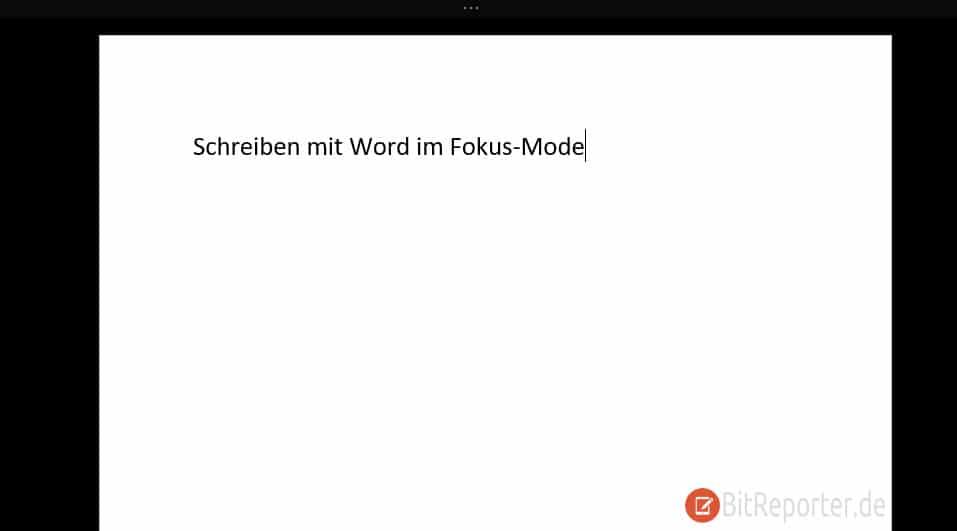 Microsoft Word Focus-Mode aktiviert