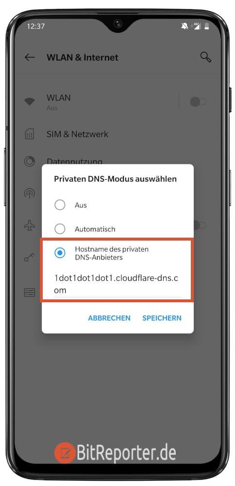 verschlüsseltes DNS (DoT) unter Android aktivieren