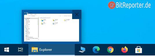 Explorer über das Icon in der Taskleiste starten