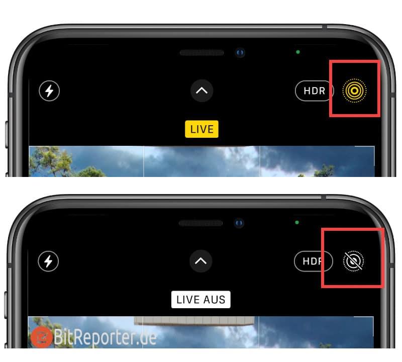 Live-Photo-Funktion am iPhone einmalig aktivieren oder deaktivieren